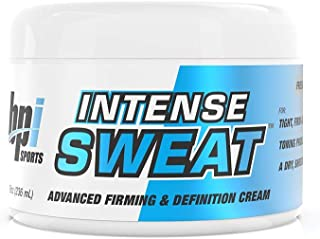 BPI Sports Intense Sweat - Advanced Firming & Definition Cream For Tight Firm-Looking Skin - Toning Cream - 8oz