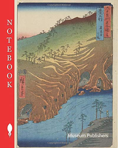 Notebook: Buzen, Utagawa Hiroshige 歌川広重 (Japanese, 1797-1858), Edo, 1854 (Tiger 11), woodblock print, The Road Below the Cave at Rakkan Temple (Pick up your pen and write, Band 10628)