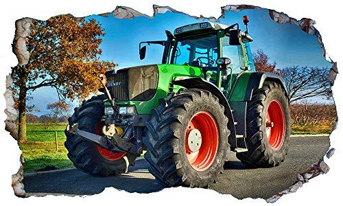 Pegatinas de pared Tractor Farmer Magic Window Imagen Arte De La Pared Etiqueta Wall Smash Multi- 80×120cm