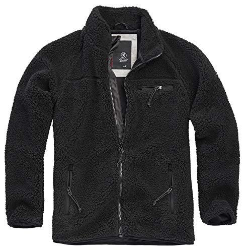 Brandit Teddyfleece Jacket, schwarz, Größe S