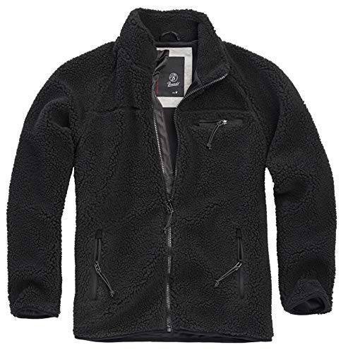 Brandit Teddyfleece Jacket, schwarz, Größe M