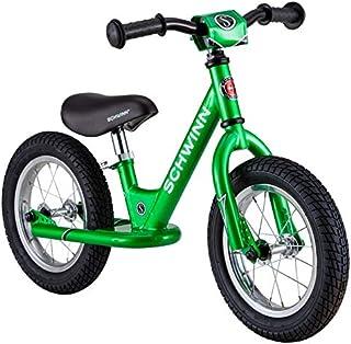 Schwinn Toddler Balance Bike, 12-Inch Wheels, Beginner Rider Training, Green
