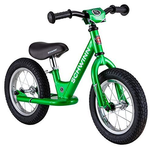 Schwinn Toddler Balance Bike, 12-Inch Wheels, Beginner Rider Training, Green