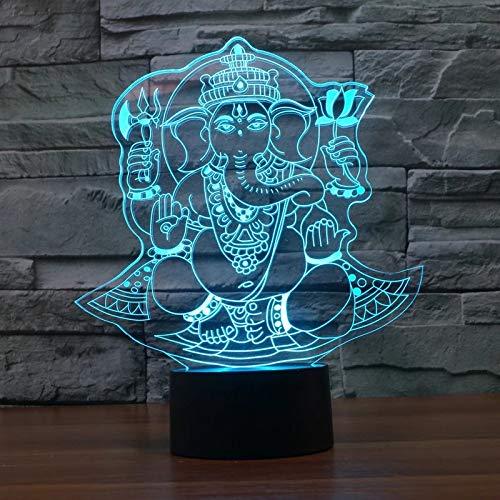 Estatua de Buda lámpara de mesa de acrílico multicolor lámpara 3D LED luz de noche decoración regalo decoración regalo