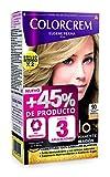 Colorcrem - Tinte permanente mujer - tono 90 Rubio Clarisimo, con tratamiento nutri-protector al aceite de Argán. + 45% de producto | Disponible en más de 20 tonos.