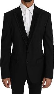 Dolce & Gabbana Black Wool Martini Torrero Blazer Jacket