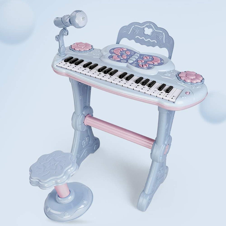 LIPENG-TOY Keyboard Home Kinder Baby Anfnger Einführung Musik Früherziehung Multifunktionsklavierspielzeug 3-6-12 Jahre (Farbe   Blau)