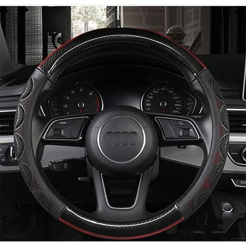 PNHMQQ Cubierta del Volante del automóvil, para Audi A1 A2 A3 A4 A5 A6 A7 A8L Q2 Q3 Q5 Q7 S1 S2 S3