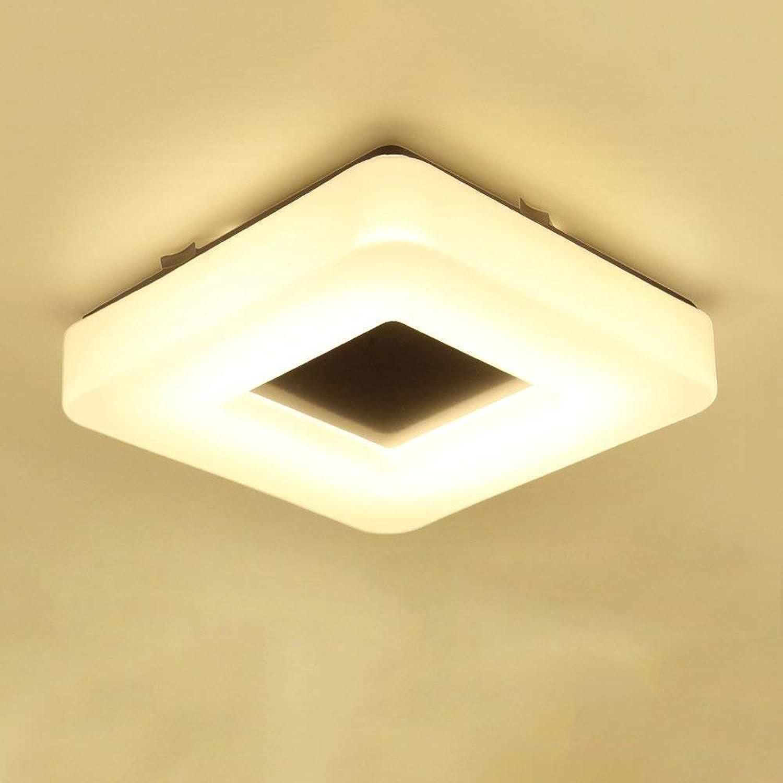 RBB LED-Deckenleuchte wei, Moderne einfache quadratische Eisen-Deckenleuchte Flur Schlafzimmer Wohnzimmer Hotel Lobby Dekoration Deckenleuchte Mdash,28CM  28CM