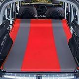 HKVML Colchón de Coche SUV sofá Inflable Aire colchón de Viaje Inflable Universal para Asiento Trasero Multifuncional sofá Almohada cámara para Exteriores, Doble, red5cm, A