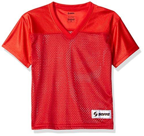 Soffe Girls' Big Mesh Football Jersey, Red, Medium