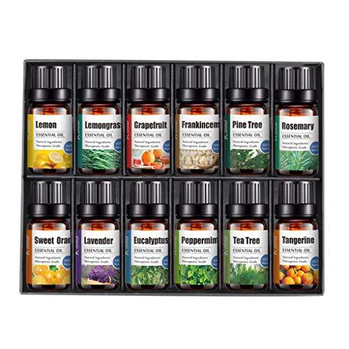 Kriosey ätherische Öle Geschenkset Pure Aromatherapie Therapeutisches Woody Oils Kit Geschenk für Diffusormassage Ätherische Öle Set für Aroma Diffuser für Luftbefeuchter,Seife,SPA,Massage