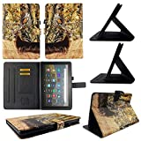 TPU Shell Case for All-New Amazon Fire HD 8 / HD 8 Plus (10th Gen 2020) Camo Deer Slim PU Leather Folding Stand Cover with Auto Wake/Sleep for 8 Inch