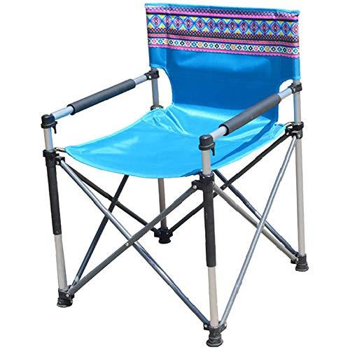 Furniture 247 Outdoor-Klappstuhl, tragbar, einteiliger Aluminium-Strandstuhl mit Armlehnen, geeignet für Gard für den Innen- und Außenbereich