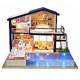 SinceY Puppenhaus DIY Dollhouse Kit Licht Modell Kreativ Geburtstag Weihnachts Geschenk mit Licht...
