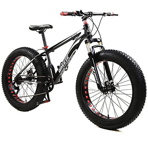 BREEZE Mountain Bike Bicycle Fat Tire Men Women 26 INCH MTB Frame...