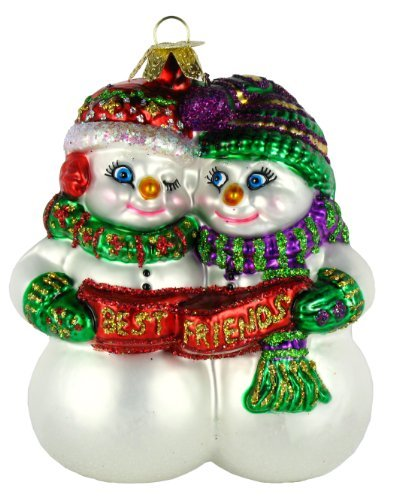 Old World Christmas Snowman Assortment Glass Blown Ornaments for Christmas Tree Best Friends
