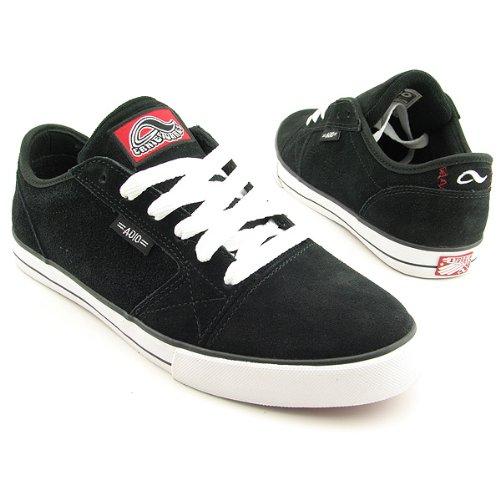 Adio Men's Torres V.2 Skate Shoe,Black/White/Red,7.5 M US