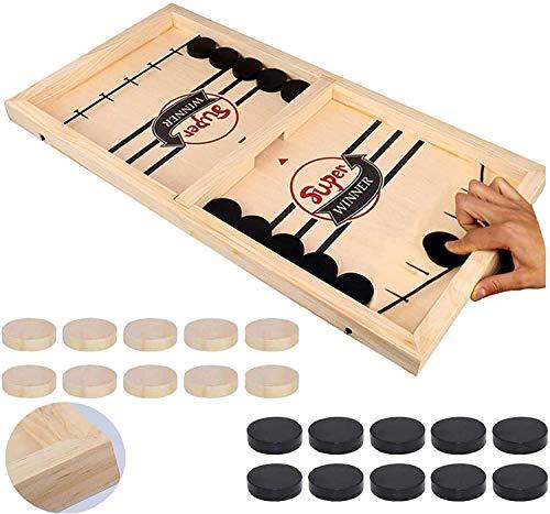 moopok Fast Sling Puck Game,Slingshot Games Toy,Table Desktop Battle 2 in 1 Ice Hockey Game, Winner Board Games Toys for Parent-Child(Super Winner, Large)