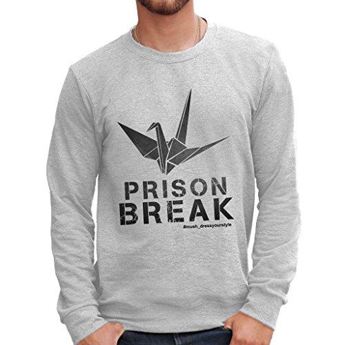 MUSH Sweatshirt Prison Break - Film by Dress Your Style - Herren-M-Grau