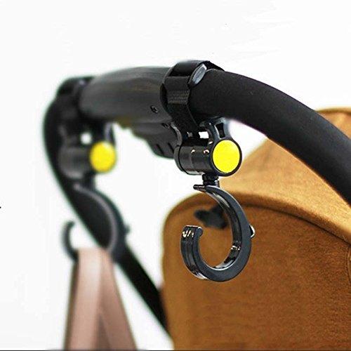 serie di 2 black universale di sicuro buggy ganci mamma l'uncino borsa gruccia clip