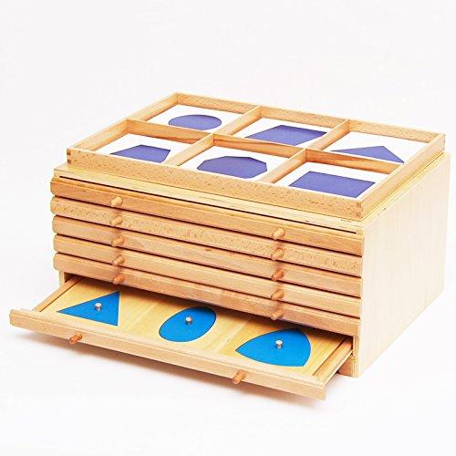 【MONTE Kids】モンテッソーリ教具 --幾何たんす -- Montessori 知育玩具教具 幼児早期教育 算数 おもちゃ ...