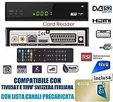 Decoder Tivusat HD 1080p Compatibile Con Tessera Gold Inclusa Da Attivare S2 DVB-S2 HEVC H265 MAIN 10