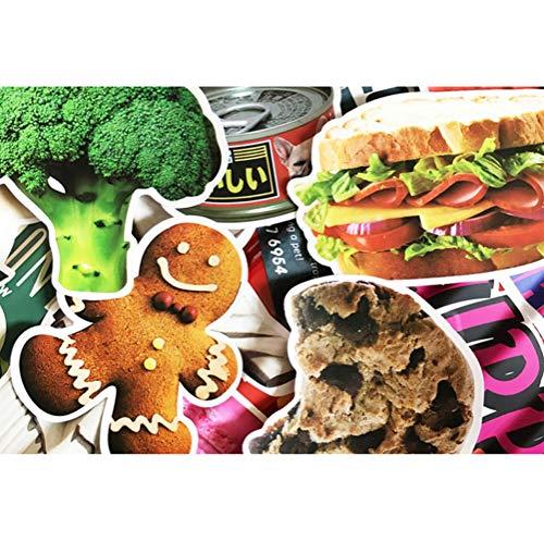 QIANGWEI 32 Leuke Home Decoratie Voedsel Stickers Vis Brood Groenten Stickers Koelkast Lunch Doos Keuken Doodle Kids