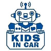 imoninn KIDS in car ステッカー 【シンプル版】 No.50 ロボットさん (青色)