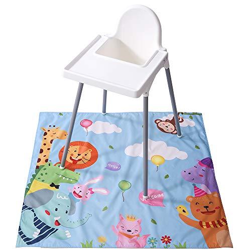 Winthome - Alfombrilla para silla de sobremesa, diseño de salpicaduras, impermeable, antideslizante (zoológico, 110 x 110 cm)