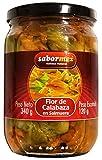 SABORMEX Flor de Calabaza 340 gr Conserva Mexicana de Flor de Calabaza en Salmuera Quesadillas Ensaladas Sopas Comida Típica de México Alto contenido en Vitaminas Muy Saludable