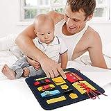 aniceday Kleinkindfälligt Brett Spielzeug Lernspielzeug Für Kleinkinder Lernen Lernen, Lernbrett Mit Reißverschlüssen, Knöpfe, Schnallen, Zbewusste Geeignet Für 1 2 3 4 Jahre Altes Baby