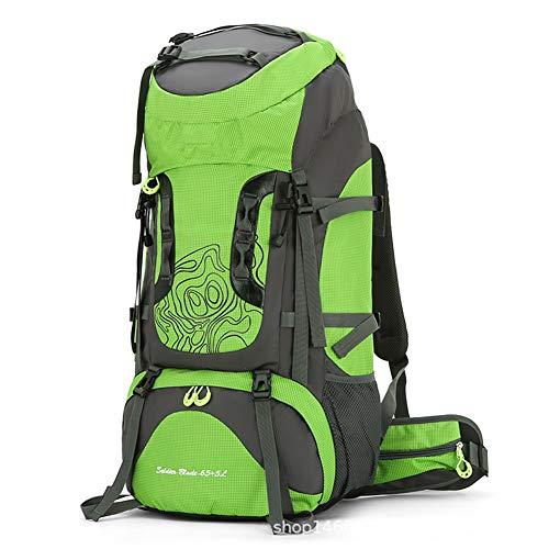 Mochila de senderismo, mochila de senderismo 70L, mochila de senderismo impermeable de gran capacidad, con funda para lluvia, hombres y mujeres, mochila de viaje, deportes al aire libre para acampar,D