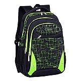 FLHT, mochila escolar 8-12-15 años niño niña estudiante de secundaria de escuela secundaria impermeable bolsa de viaje de campus de escuela primaria liviana mochila