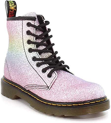 Dr. Martens Kid's Collection Girl's 1460 Patent Glitter Junior Delaney Boot (Little Kid/Big Kid) Rainbow Glitter 2 UK (US 3 Little Kid) M