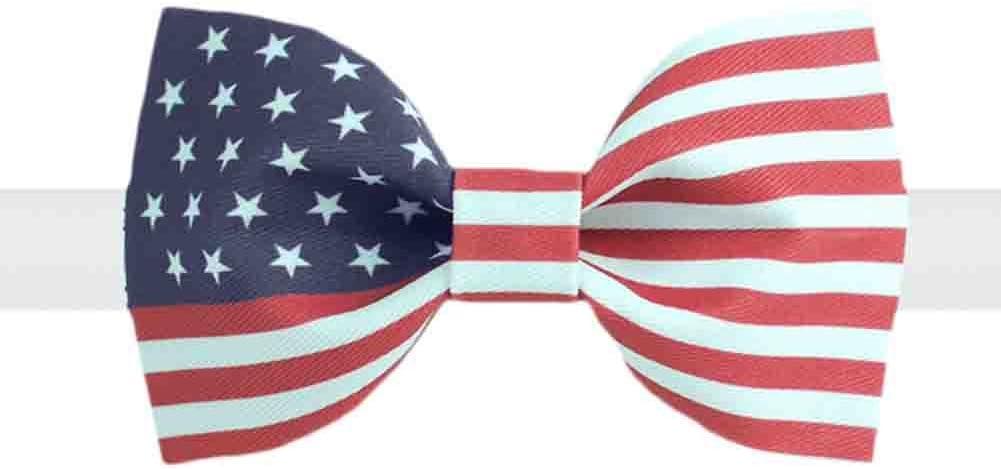 Panda Legends Retro American Flag Bow Tie Adjustable Wedding Parties Neckties for Men/Boys