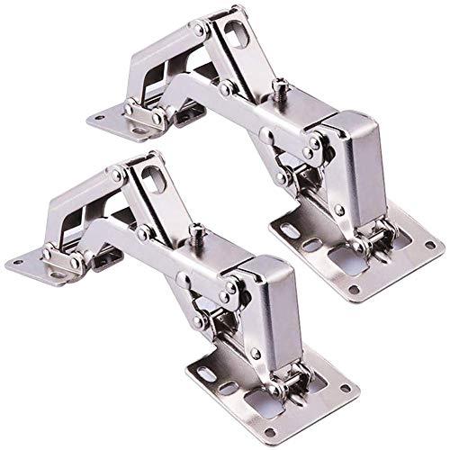 BESTZY Cierre Suave 170° Kitchen de Bisagras para Armario o Puerta + 16 tornillos - bisagras de puerta de ángulo grande - No requiere ranura - Fácil de instalar Bisagra