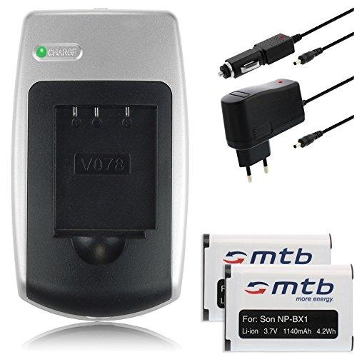2 Baterías NP-BX1 + Cargador para Sony HDR-AS. Action-CAM/Cyber-Shot DSC-H400, HX50./ RX100. (Ver descripción)