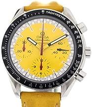 [オメガ]OMEGA スピードマスターシューマッハ腕時計 3810.12 イエロー ステンレススチール レザー メンズ 中古