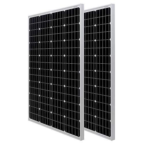 HQST 100 Watt Monocrystalline 12V Solar Panel with Solar Connectors High Efficiency Module PV Power...