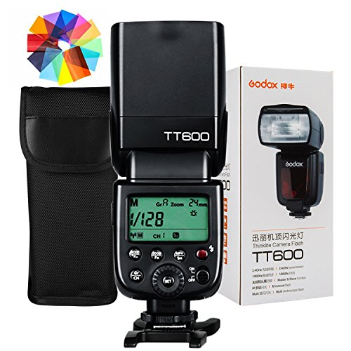 Godox TT600 Flash Speedlite with Built-in 2.4G Wireless Transmission for Canon, Nikon, Pentax, Olympus and and Other Digital Cameras