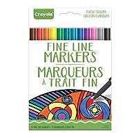Crayola : 12 Fine Line Markers (Bilingual)