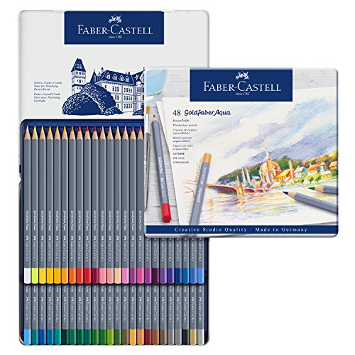 Faber-Castell Creative Studio Goldfaber Watercolor Pencils (48Count)