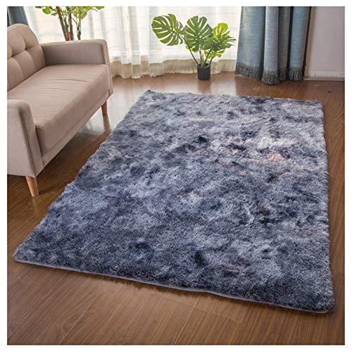 MNZDSQ Alfombras de área for Sala de Estar Dormitorio Soft Touch lanudo Topo Grueso de Lujo Alfombra de Pelo Largo Suave.Disponible en 8 tamaños 007 (Color : Black, Size : 200CM x 400CM)