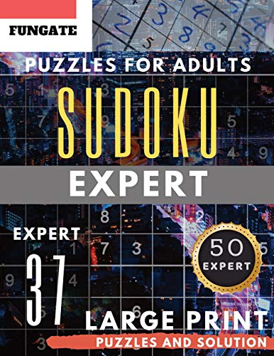 Sudoku Expert Puzzles for Adults Large Print: FunGate Activity Book | SUDOKU Extreme Difficult Quiz Game (Sudoku Puzzle Books for Adults & Seniors) (Sudoku Maths Book Large Print)