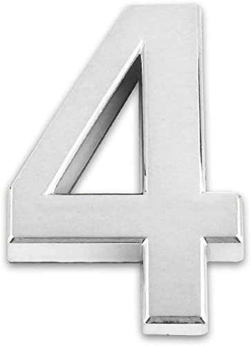 lowest 2.75inch/7cm Self-stick Modern House Number Silver Mailbox Number 3 Pieces discount MPH-01 sale (No.4) online sale