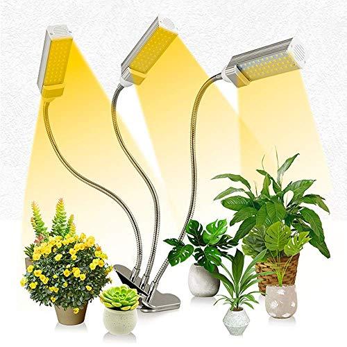 Dpliu Gute Qualität LED-Anlage integrierter Multi-Head-Einstellwinkel-Anlage-Licht-Lampe Solar-Spektrum Photosynthese Gelblicht-Fülllicht, Köpfe Schwanenhals Vollspektrum LED-Anlage wachsen Licht
