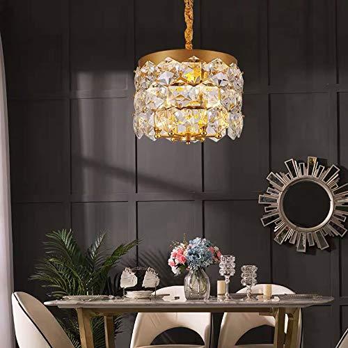 MGWA Luz de Techo Simple Bedroom Crystal Light Luxury Restaurant Lighting Postmodern Light Luxury Crystal Chandelier