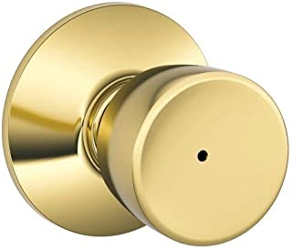 Schlage F40BEL605 Bell Privacy Knob, Bright Brass