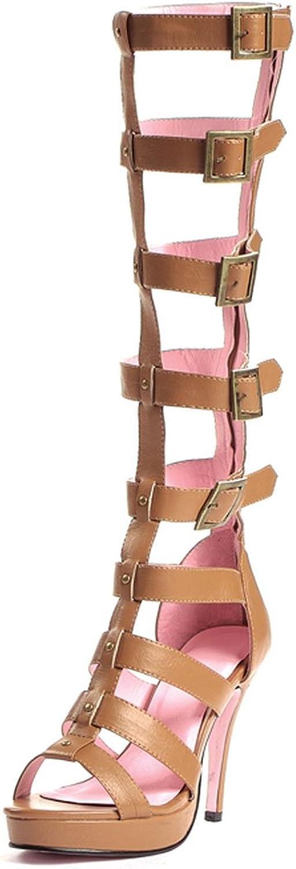 Leg Avenue, Inc. Roma Knee-High Sandals Costume shoes - Size 7